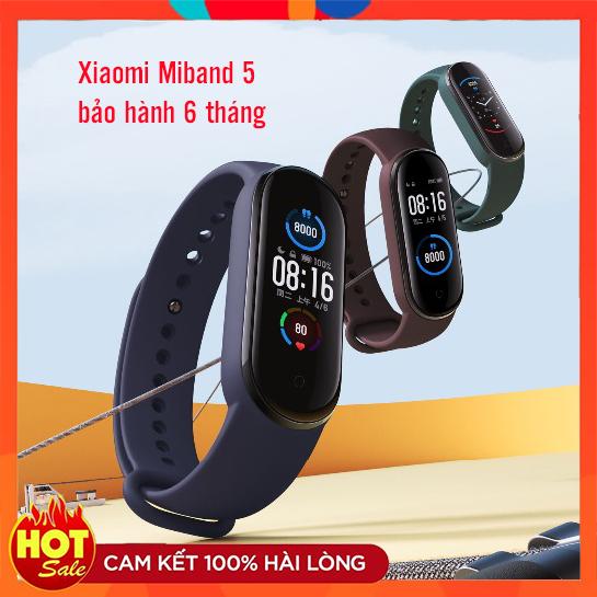 Offer Ưu Đãi ❄️ Vòng Đeo Thay Thông Minh Xiaomi Mi Band 5 Color Screen Wristband 5.0 135 MAh Battery Fitness Tracker SmartWatch-Có Kèm Cập Nhật Tiếng Anh ❄️