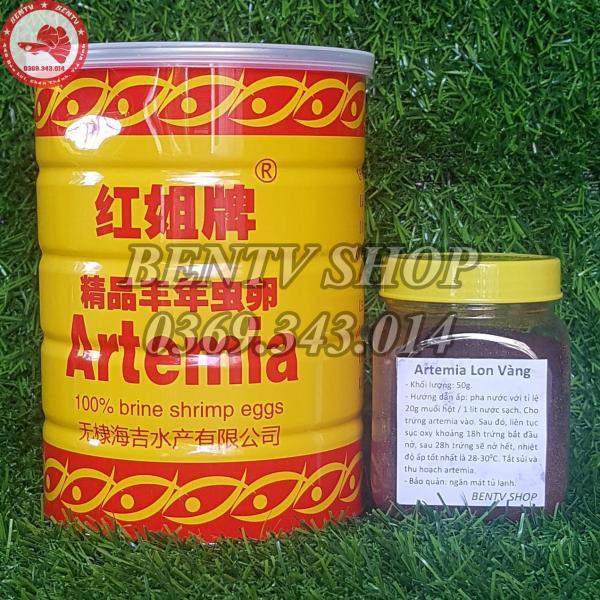 Trứng Artemia Ấp Nở Lon Vàng - Tỉ Lệ Nở Rất Cao