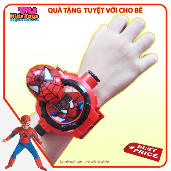 (XẢ KHO+QUÀ TẶNG) Đồ chơi đồng hồ đeo tay siêu nhân người nhện Spider-man có chiếu bóng đủ các loại hình của siêu nhân //  đồng hồ Kidstoys TV giúp bé học cách xem giờ và sử dụng thời gian học - chơi ý nghĩa hơn. bán chạy