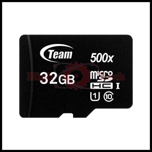Thẻ nhớ microSDHC Team Group 32GB upto 80MB-s 500x class 10 U1 (Đen)