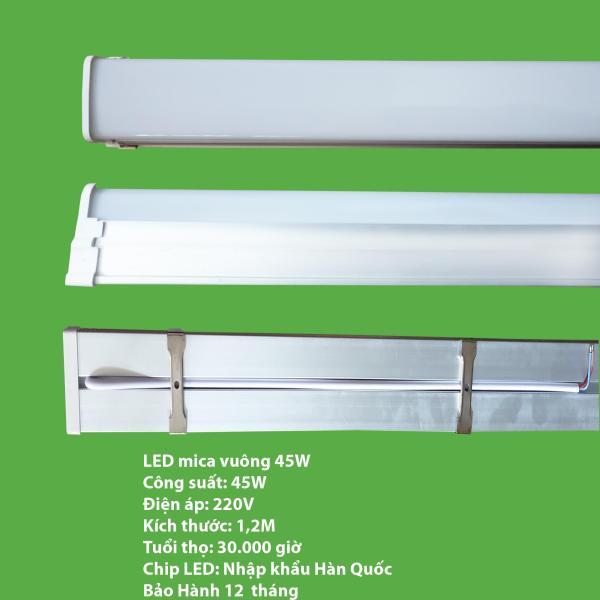 Bộ 10 đèn LED máng đôi mica 45w -1.2 mét