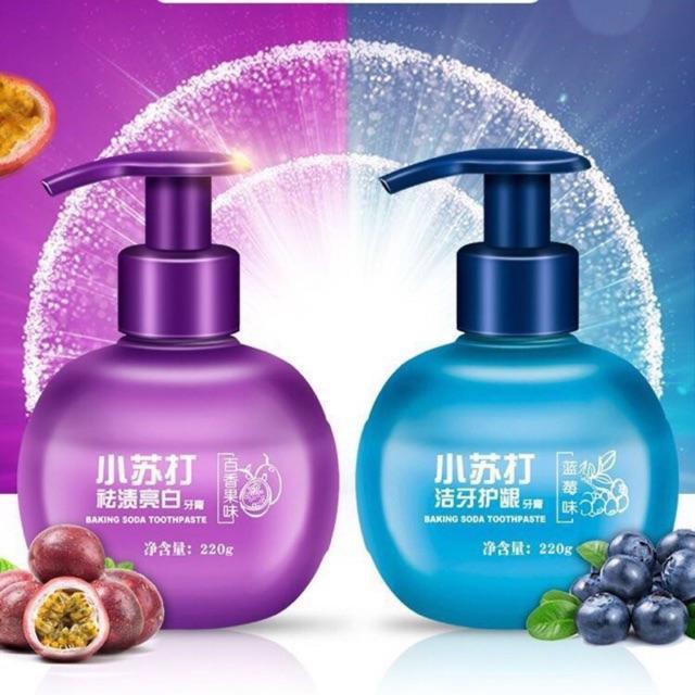 [HÀNG TỐT] COMBO 2 Kem Đánh Trắng Răng - Tẩy Ố Vàng Baking Soda Vị Hoa Quả nhập khẩu