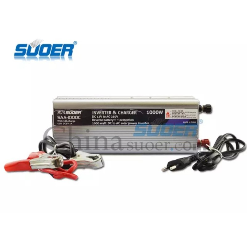 Bảng giá Inverter with Charger Suoer 1000W 12V 220V – SAA-1000C Phong Vũ