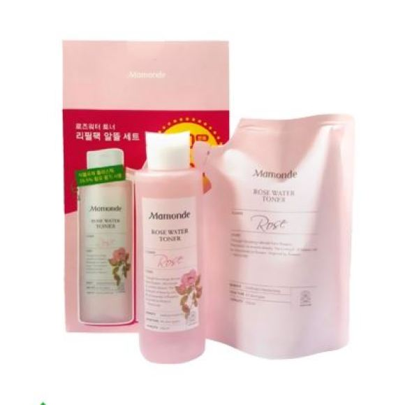 Set Nước Hoa Hồng Mamonde Rose Water Toner 250ml + Túi 250ml