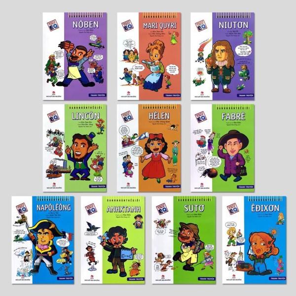 Sách - Combo  Danh Nhân Thế Giới ( 10 cuốn ) -Truyện kể về 10 nhân vật EQ