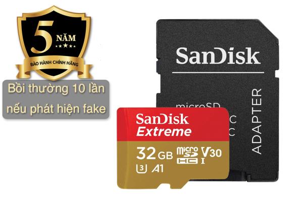 Thẻ Nhớ MicroSD SanDisk Extreme U3/V30 32/64/128 GB cam kết chính hãng 100% Bảo hành 5 năm ***GIÁ TẠI KHO RẺ-NHẤT VIỆT NAM***