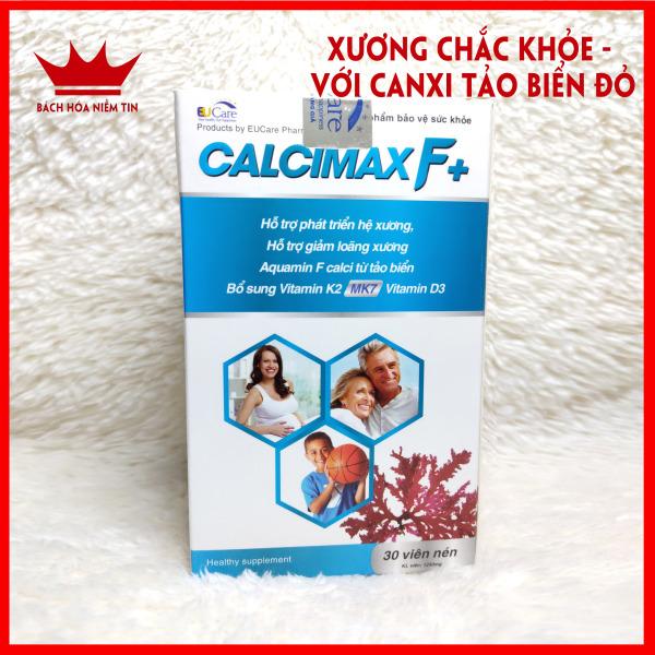 Viên Uống Bổ Sung Canxi, Vitamin D3, Vitamin K2 Calcimax F+ Phát triển hệ xương, chắc khỏe xương, giảm loãng xương - Hộp 30 viên Sử dụng cho bà bầu, trẻ em và người lớn tốt nhất