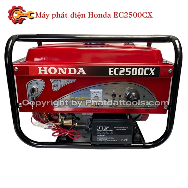 Máy Phát Điện Chạy Xăng Honda EC2500CX-Có Đề+Giật Nổ-Động Cơ 4 Thì Tiết Kiệm Nhiên Liệu-Bảo Hành 12 Tháng