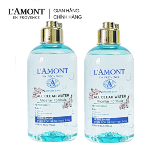 Combo 2 Nước tẩy trang All Clean Water Micellar Fomula Refreshing 250ml - L amont En Provence thumbnail