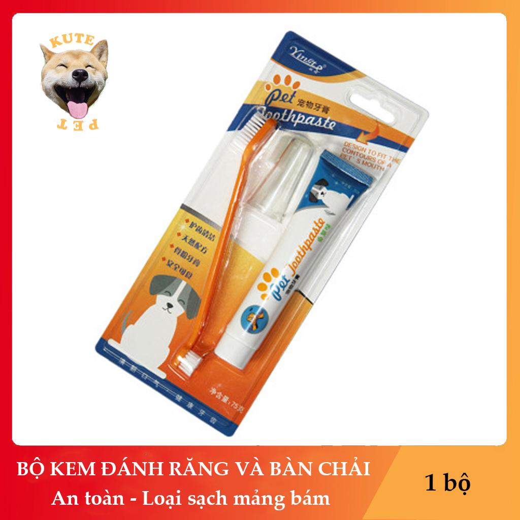 Offer Khuyến Mại Bộ Kem đánh Răng Và Bàn Chải Cho Chó Mèo Thú Cưng