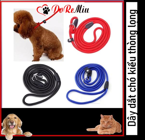 Doremiu - Dây dắt chó sơi tròn kiểu thòng lọng dây xích chó kỷ luật dành cho các chú chó bướng bỉnh