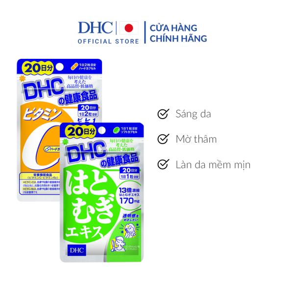 Combo Viên uống DHC Sáng da - Mờ thâm 20 Ngày (Adlay & VitaminC)