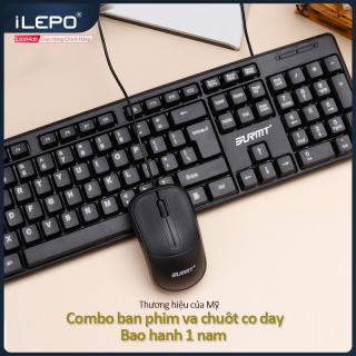 Bộ bàn phím chuột có dây độ phân giải 1200DPI dùng được cho mọi hệ điều hành bàn phím máy tính dùng làm việc tại nhà văn phòng bảo hanh 1 năm 8236 bộ bàn phím và chuột có dây thumbnail