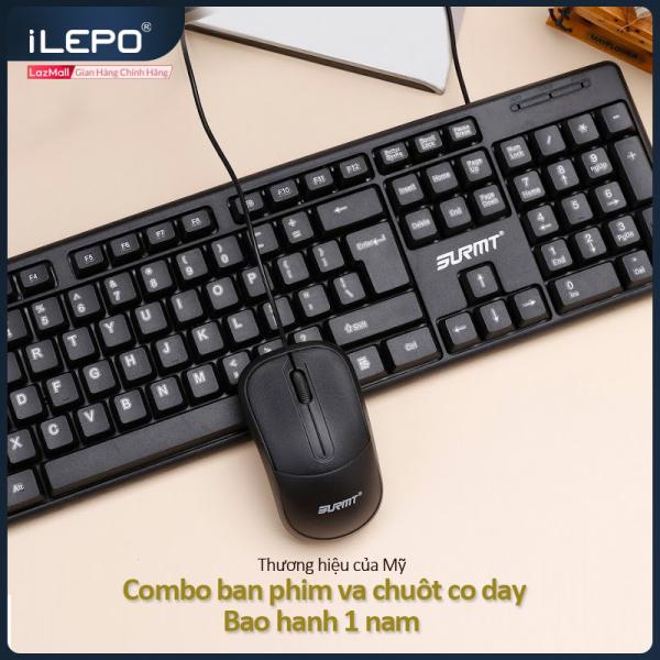 Bảng giá Bộ bàn phím chuột có dây, bộ bàn phím và chuột có dây, bàn phím máy tính độ phân giải 1200DPI, dùng được cho mọi hệ điều hành, dùng cho làm việc tại nhà, văn phòng bảo hanh 1 năm 8236 Phong Vũ