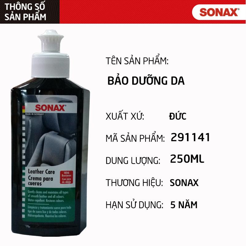 Combo Dung dịch vệ sinh nội thất xe Sonax(500ml) và Kem bảo dưỡng ghế da Sonax (250ml)