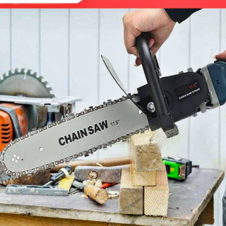 Lưỡi cưa xích gắn máy mài - Chuyển đổi máy mài thành máy cưa - Cưa cây - Cắt gỗ - Cắt cành - Có bình tra dầu tự động - Thép tinh luyện chiu nhiệt tốt - Bộ lưỡi cưa xích-2021-ĐIỆN MÁY PHÚC AN thumbnail