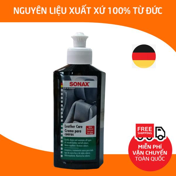 [HCM]Sonax leather care lotion 250mlDung dịch xịt bảo dưỡng da ghế xe hơi sáp xi làm sạch kem dưỡng hạn chế nứt gãy cho bề mặt vật dụng da táp lô xe hơi ô tô ghế văn phòng-SN-291141