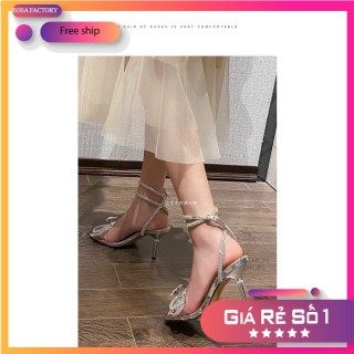 [CG-0470] Sandal nơ đá gót nhọn 9p hot 2020 thumbnail