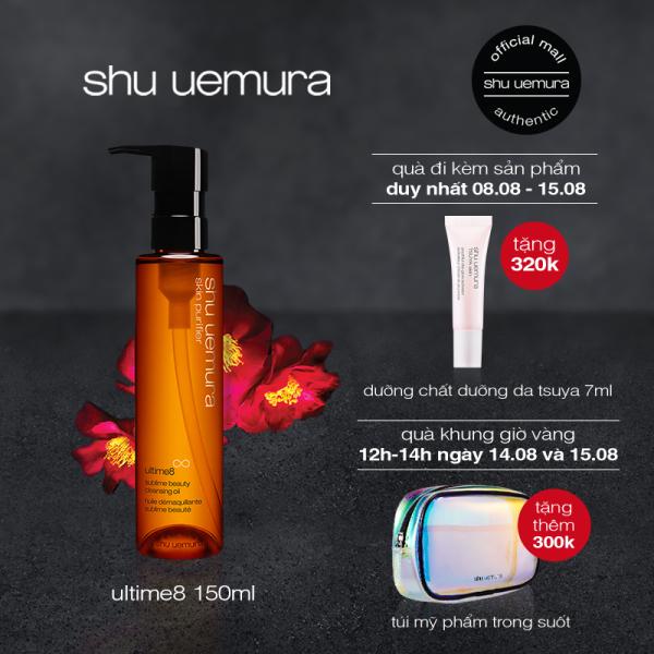 dầu làm sạch và tẩy trang cao cấp shu uemura ultime8 cleansing oil 150ml