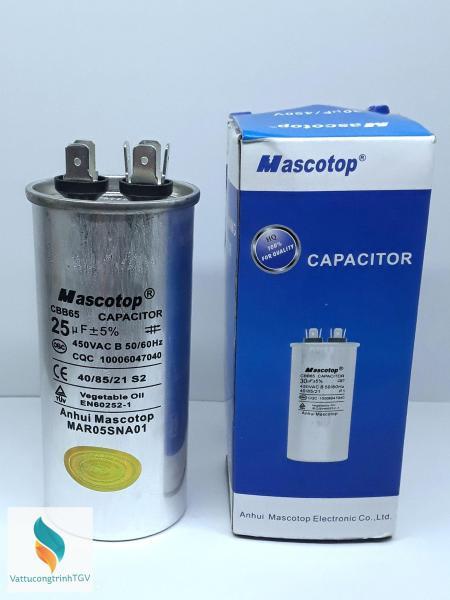 Tụ Mascotop CBB65 25mF+5% ( Dùng cho  điều hòa)