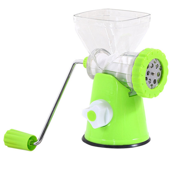 Hand-Crank Meat Grinder Household Manual Sausage Stuffer Cooking Machine Minced Pepper Garlic Minced Removable Washable