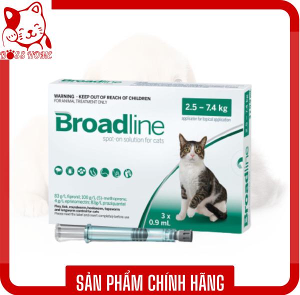 THUỐC NHỎ GÁY TRỊ VE RẬN CHO MÈO BROADLINE FOR CATS