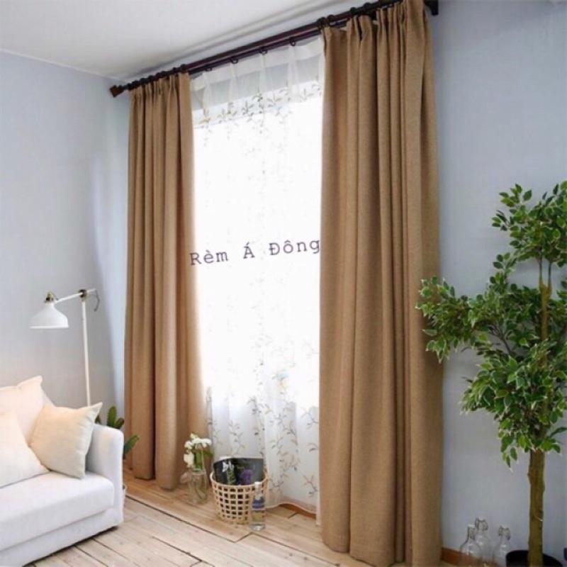 Rèm vải thô cực mềm tay, cản nắng 90%, có sẵn