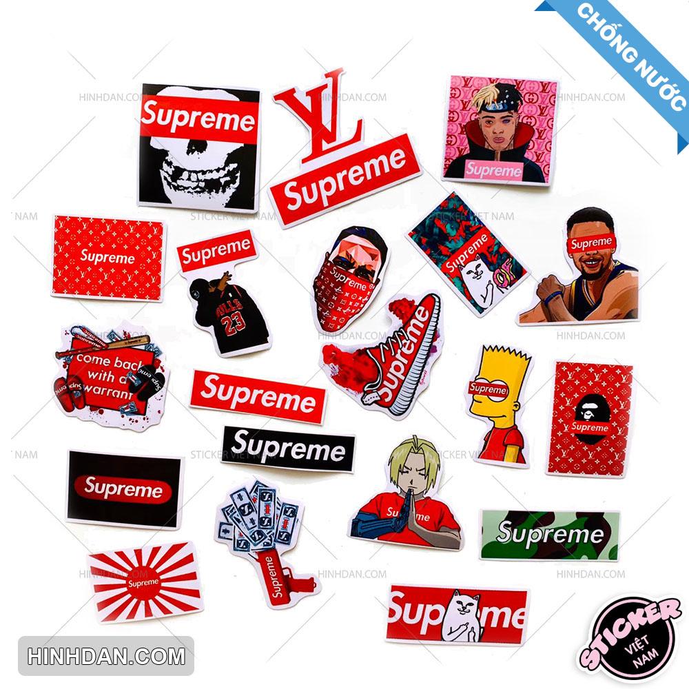 Coupon Khuyến Mại Sticker Supreme, Bộ Hình Dán Chủ Đề Thời Trang Đường Phố (2020), Decal Chất Lượng Cao, Chống Thấm Nước, Hình Ảnh Đa Dạng Độc Đáo, In Rõ Nét, Màu Sắc Đẹp