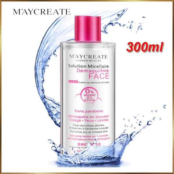 Nước tẩy trang Maycreate tẩy sạch chất bẩn bã nhờn lớp trang điểm giúp sạch thoáng mịn màng làn da 300ml cao cấp