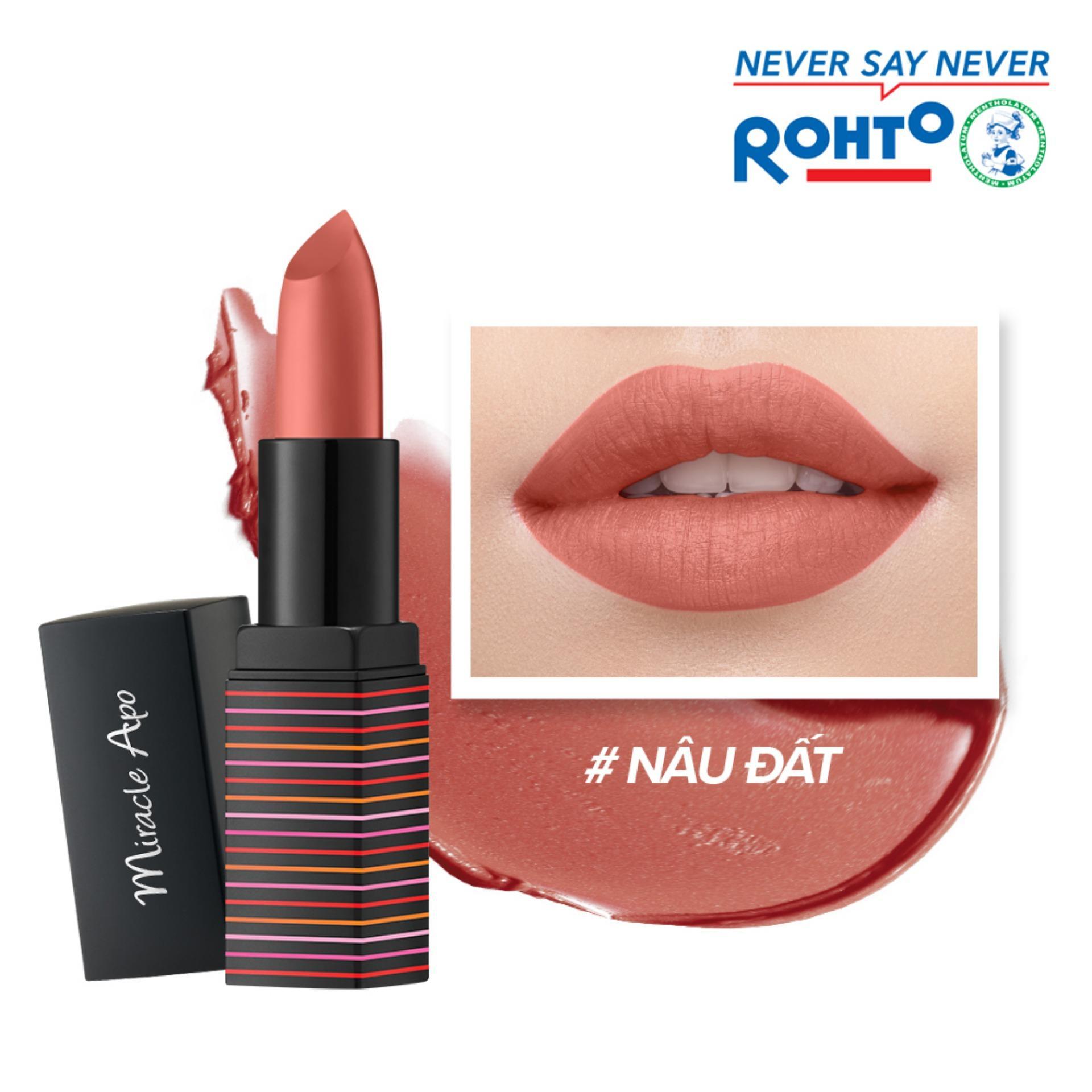 Son lì Miracle Apo Lipstick Matte Brownude 4g (Nâu đất) chính hãng