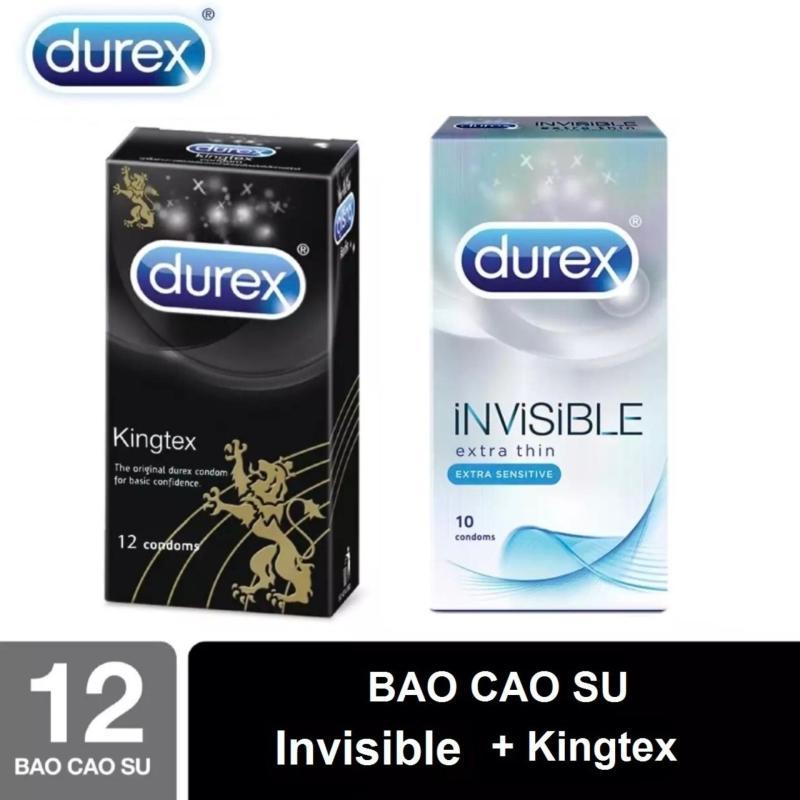 [MUA 1 TẶNG 1] Bao Cao Su Durex Kingtex size cỡ nhỏ + Durex Invisible Extra Thin cực siêu mỏng [che tên sản phẩm] cao cấp