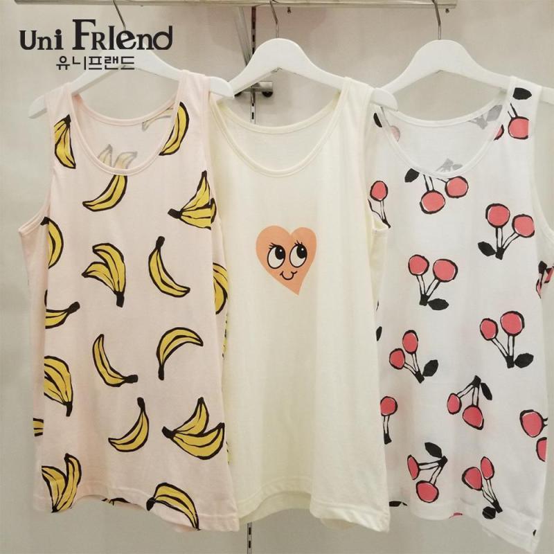Nơi bán Set 3 áo mặc nhà bé gái Unifriend thun họa tiết hoạt hình U8SSAT04