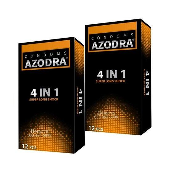Combo 2 hộp (24 bao) AZODRA gân gai dọc bao và kéo dài thời gian cực tốt