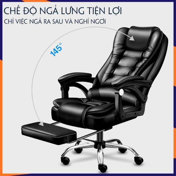Ghế Văn Phòng, Ghế xoay da cao cấp SaBo [mẫu mới 2020] có massage 5 điểm, có ngả lưng, có gác chân giá rẻ