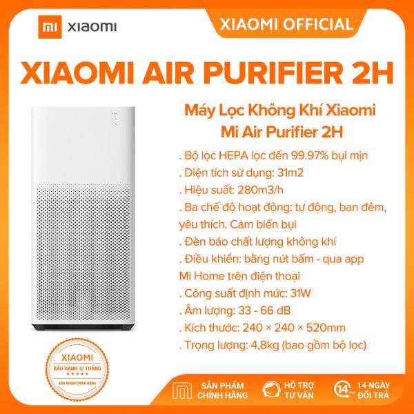 Bảng giá [XIAOMI OFFICIAL] Máy lọc không khí Xiaomi Air Purifier 2H - Diện tích 31m2, Điều khiển bằng ứng dụng, bộ lọc HEPA, Tùy chỉnh 3 chế độ, cảm biến bụi - Bảo hành chính hãng 18 tháng