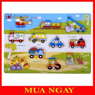 Bảng Ghép Hình Núm Gỗ Cho Bé Yêu Big Seller BG01 thumbnail