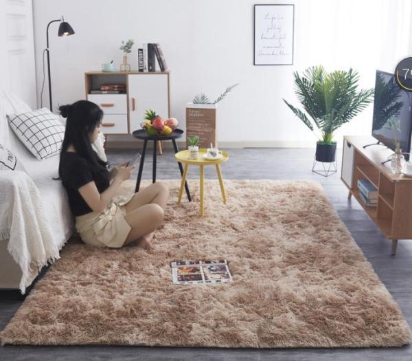 Thảm lông trải sàn Lông loang cao cấp chuẩn xuất khẩu