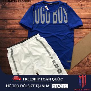 Set đồ bộ quần áo thể thao nam phối cổ tròn nam tính ( đồ tập gym, chạy bộ, cầu lông ) SDBSTD005 thumbnail