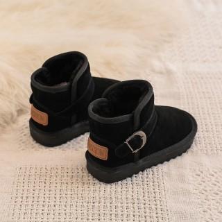Trẻ Em Boot Đi Tuyết Mặt Da 2020 Bé Gái Mùa Đông Bốt Mịn Hơn Dày Hơn Mùa Đông Giày Cotton Giày Trẻ Em Bé Trai Bông Loại Mùa Đông thumbnail