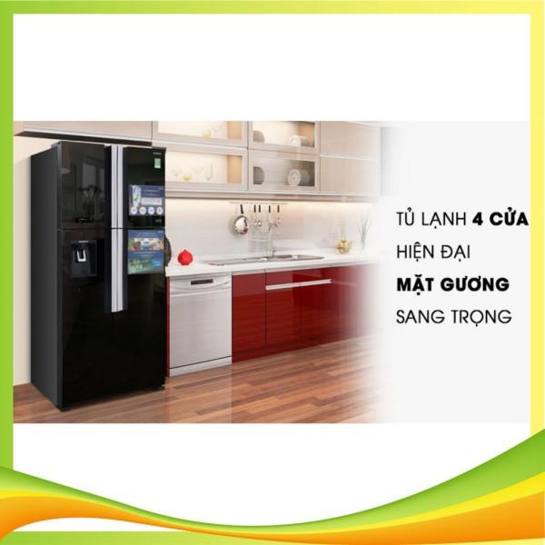 Tủ lạnh Hitachi 4 cánh màu đen R-FW690PGV7(GBK) ( Vận chuyển miễn phí khu vực TP Hà Nội)