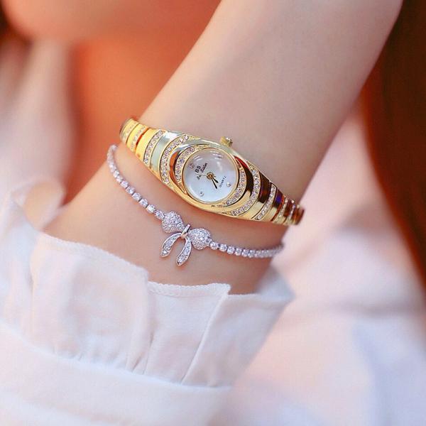 Đồng hồ nữ BEE SISTER dạng lắc tay đính đá nhỏ xinh bán chạy
