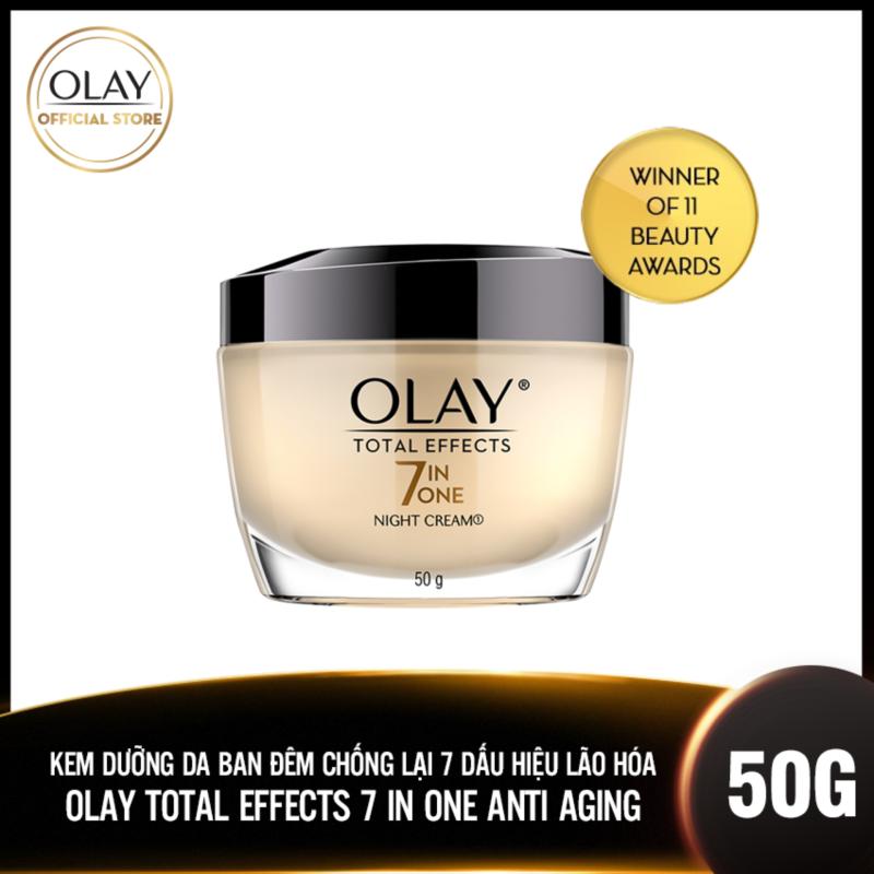 Kem dưỡng da ban đêm chống lại 7 dấu hiệu lão hóa Olay Total Effects 7 In One Anti Aging Night Cream 50g giá rẻ