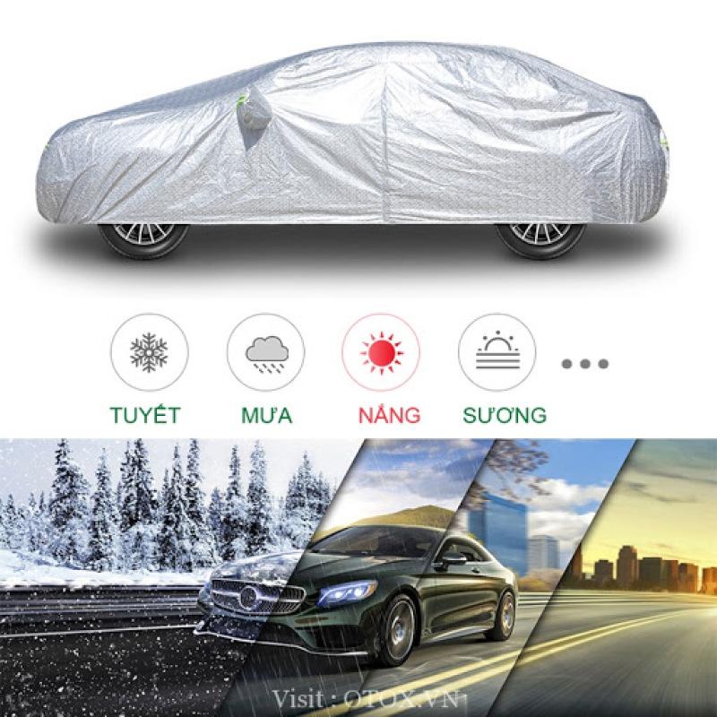 Áo trùm xe ô tô chống thấm nước tuyệt đối, Bạt phủ trùm xe hơi gấp gọn chống mưa nắng gió bụi từ môi trường, ảo vệ sơn xe của ban XẢ KHO GIÁ SỐC