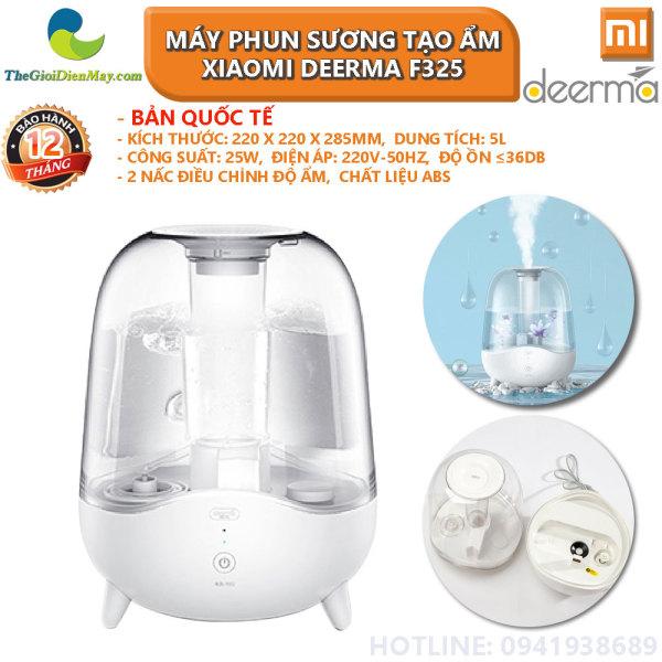 [Bản quốc tế] Máy phun sương tạo ẩm Xiaomi Deerma Humidifier F325 ngôn ngữ tiếng anh, không dùng được tinh dầu - Bảo hành 12 tháng - Shop Thế Giới Điện Máy