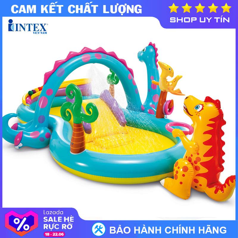 Bể Bơi Cầu Trượt Vườn Khủng Long INTEX 57135 - Hồ Bơi Cho Bé Mini, Bể Bơi Phao Trẻ Em Có Giá Ưu Đãi