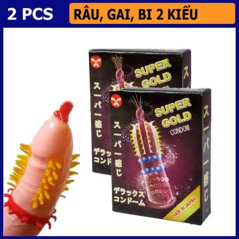 [ Chuẩn Hàng Nhật ] Bao cao su Super gold nhật bản - Bao cao su siêu gai mềm mịn