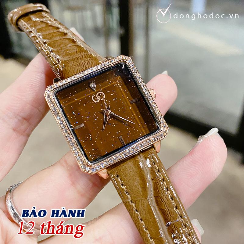 Đồng hồ Nữ GUQI Nhỏ Xinh Phù Hợp Cố Tay Việt Nam - Tặng kèm Pin ĐH dự phòng