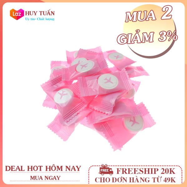 Một chiếc khăn giấy, khăn nén du lịch hình viên kẹo, khăn ướt dạng viên nén Huy Tuấn (KN01)
