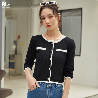 Áo Len Dệt Kim Đính Nút Hoa - New Thoi Trang thumbnail