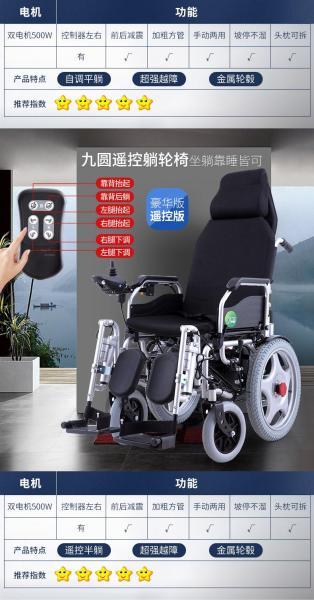 Xe lăn điện Jiuyuan HG-W680 (Phiên bản tiêu chuẩn)